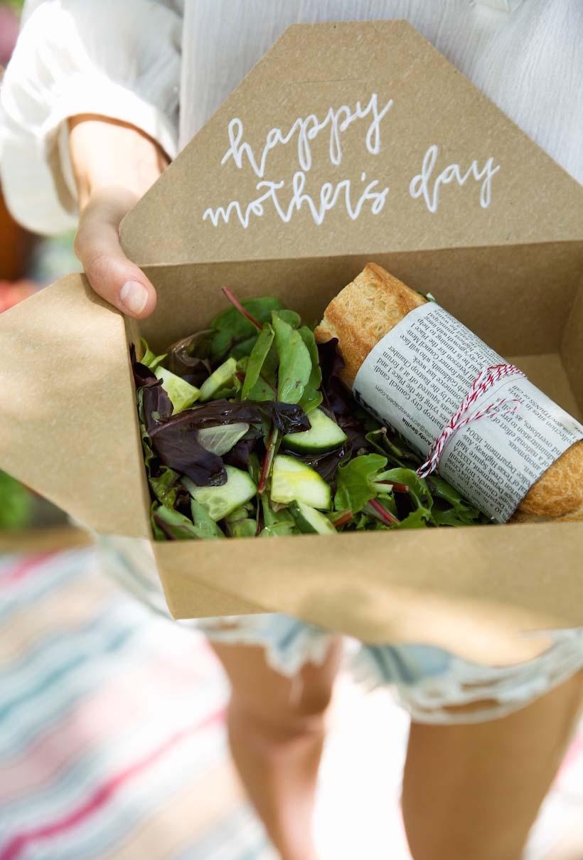 Kit para piquenique super saudável para o dia das mães