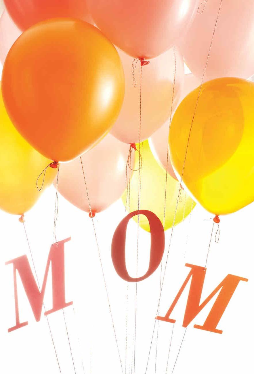 Decoração dia das mães com balões