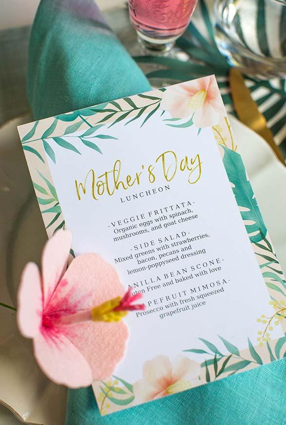 Dia das mães completamente planejado