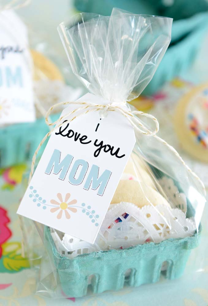 Lembrancinha comestível para o dia das mães