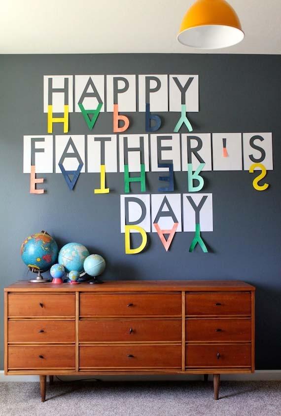 Decoração dia dos pais