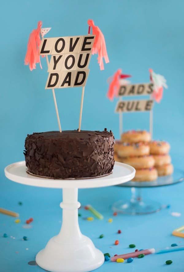 Toppers para bolo temático do dia dos pais
