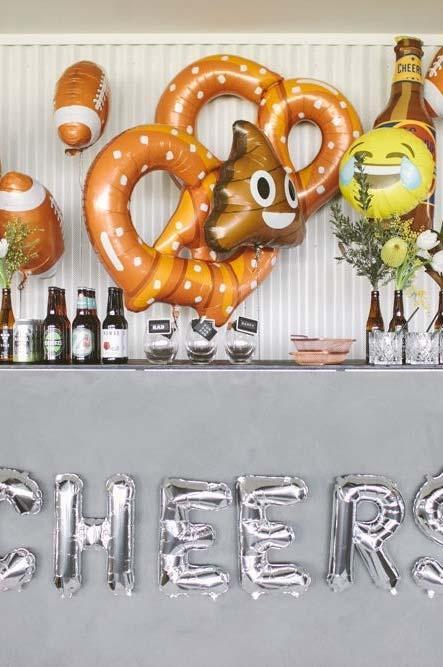 Ideia para decoração de dia dos pais com balões