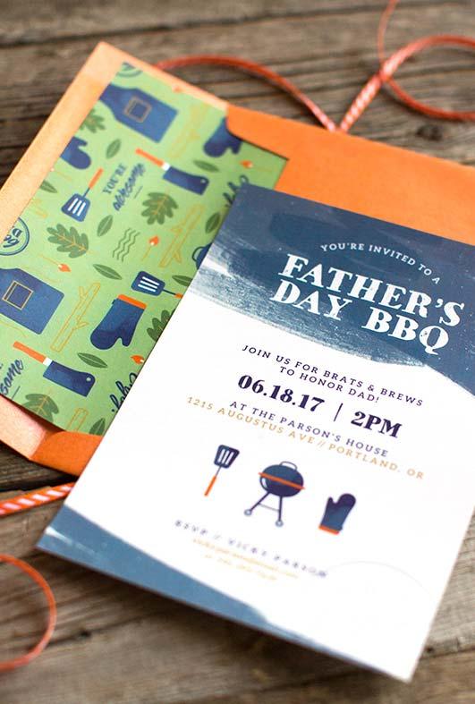 Convite personalizado e uma ideia para comemorar o dia dos pais