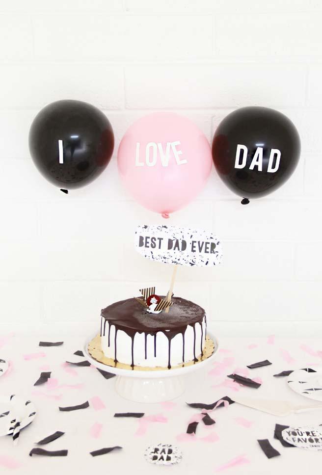 Decoração dia dos pais com balões