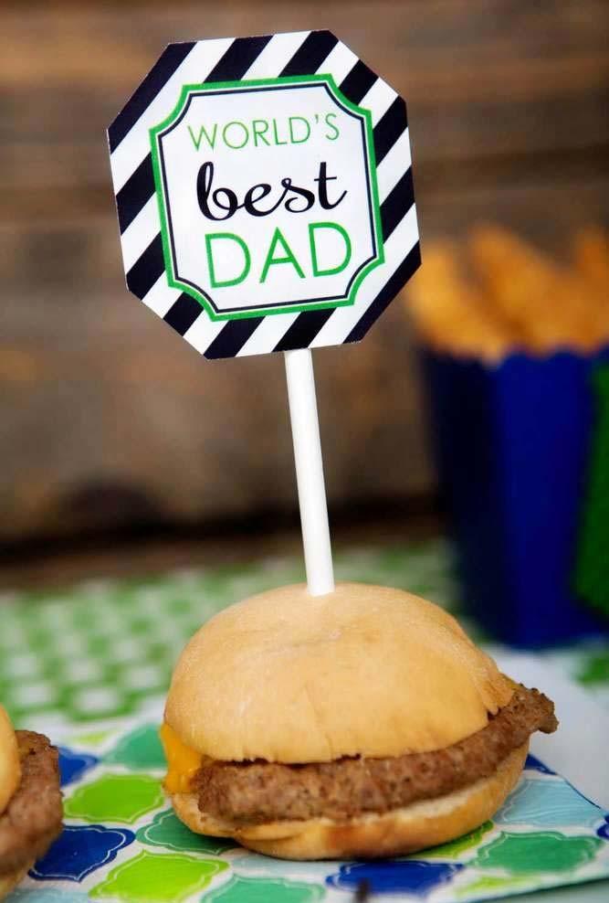 Mais uma plaquinha de Melhor Pai para espetar em bolos