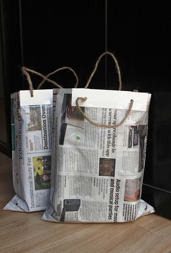 Sacola de jornal