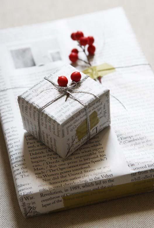 Artesanato com jornal: ao invés dos tradicionais embrulhos de presente