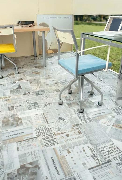 E no chão? Já pensou em revestir o piso com jornal? Olha como fica