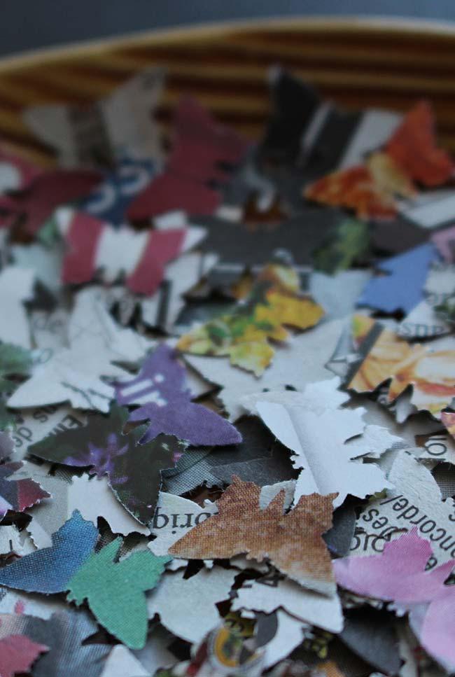 Artesanato com jornal: borboletinhas delicadas