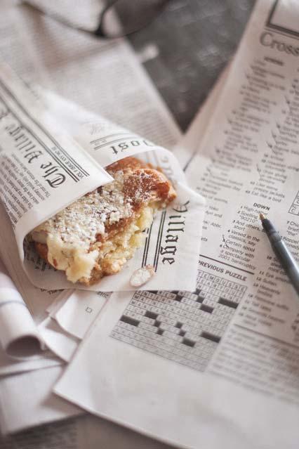 Jornal para embrulhar a comida