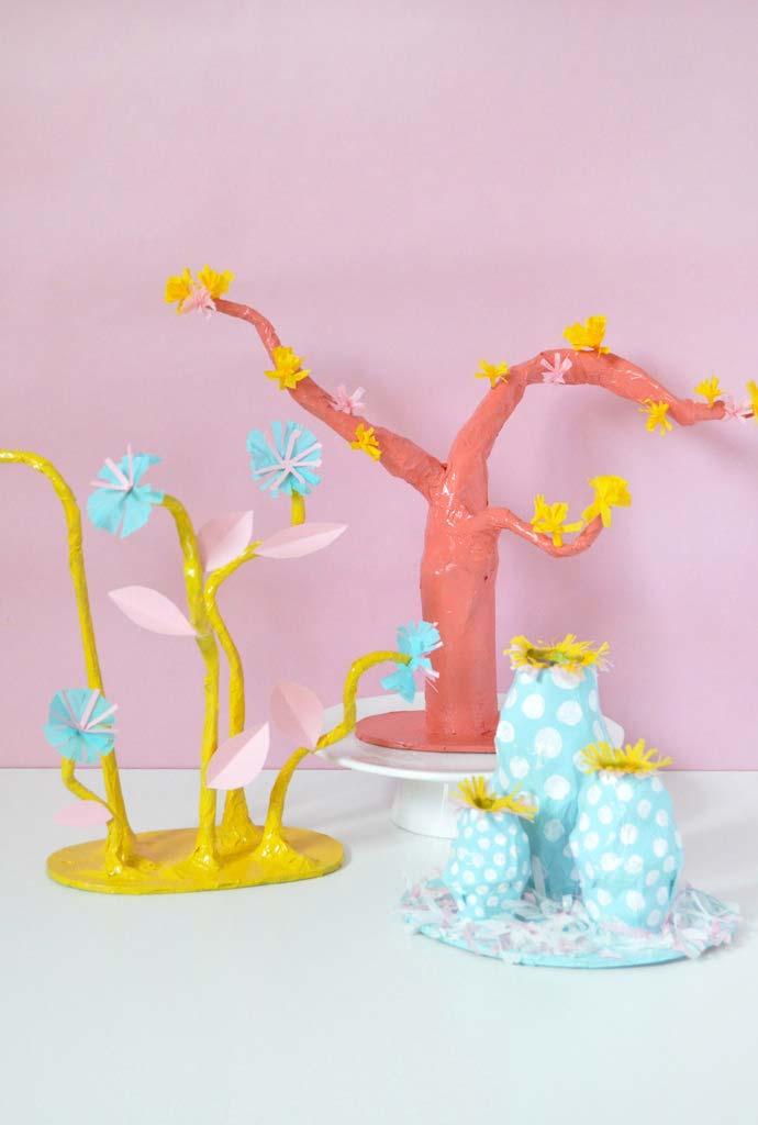 Esculturas de papel machê