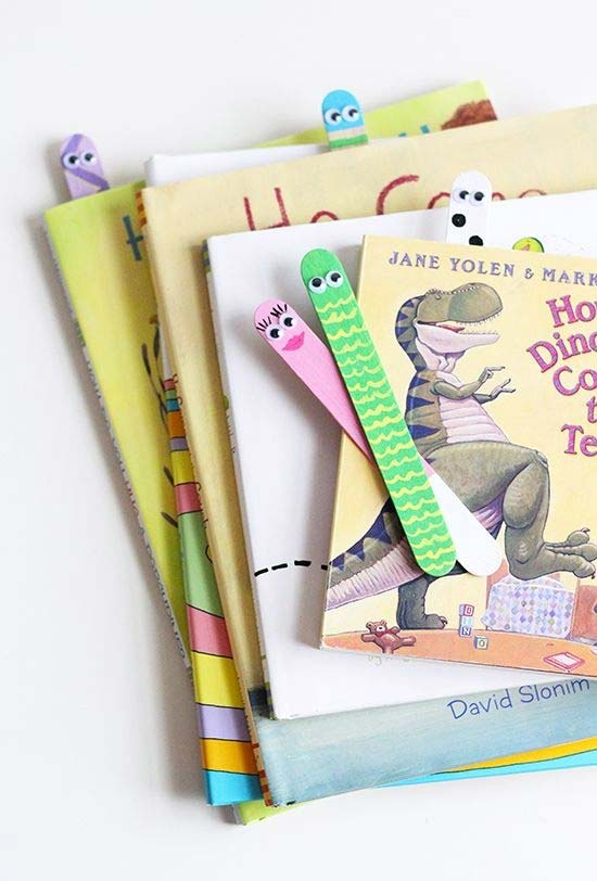 Marca página para livros feito com palito de picolé