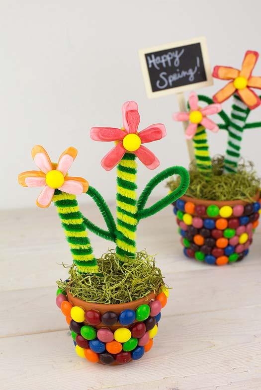 Artesanato com palito de picolé: flores