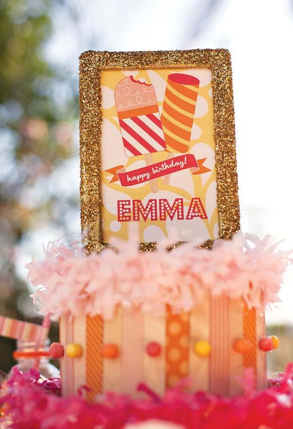 Se o tema da festa é sorvete, já sabe com o que decorar, né