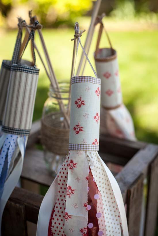 Balõezinhos caseiros feitos com rolo de papel-higiênico
