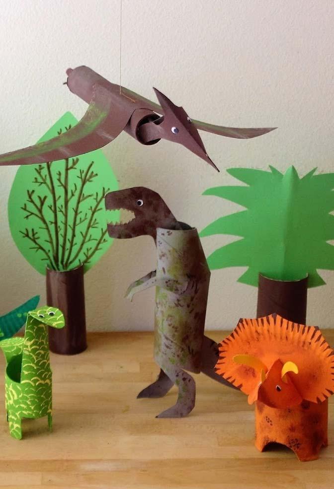 artesanato com rolo de papel-higiênico animais para fazer com as crianças