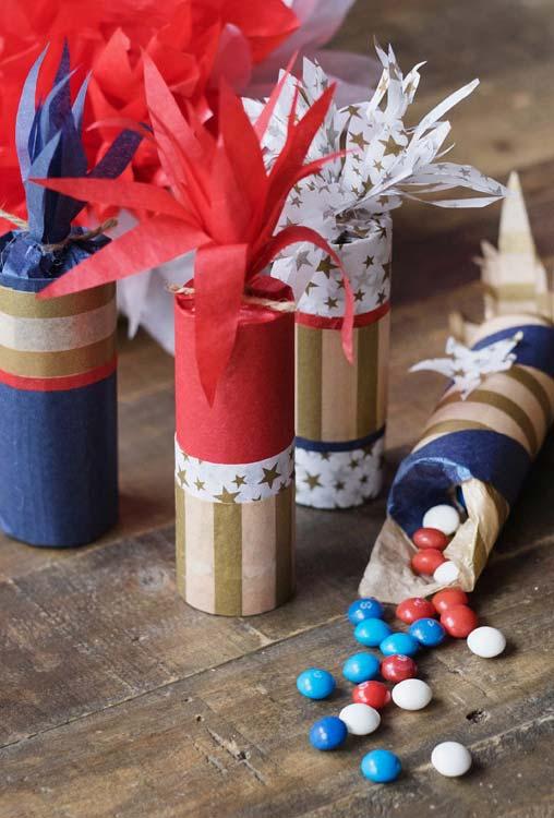 Outra ideia de embalagem em formato de bastão com rolos de papel-higiênico