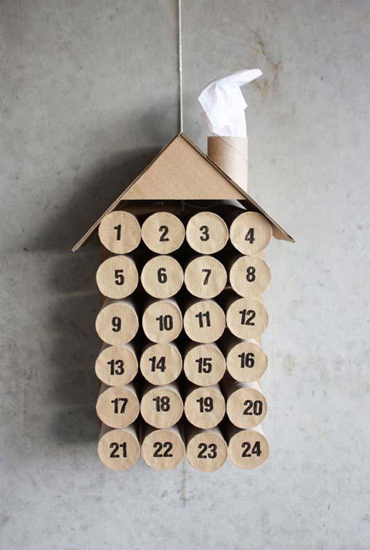 artesanato com rolo de papel-higiênico vazio e muita criatividade