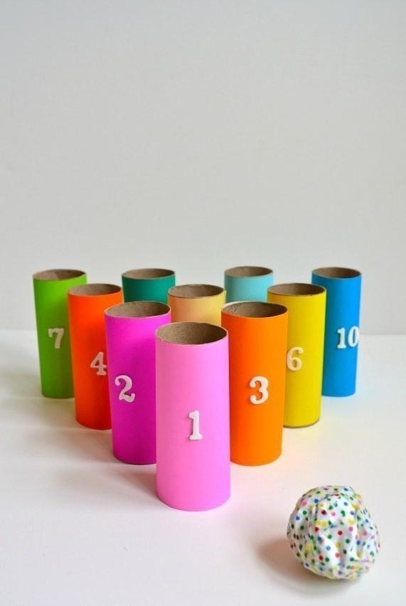 Artesanato com rolo de papel higiênico: jogos para brincar com os amigos e fazer uma gincana