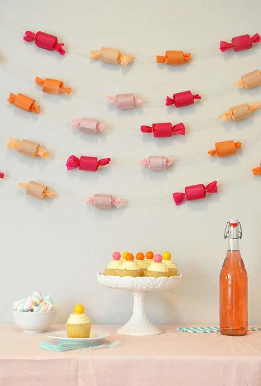 Festa temática doce e uma decoração super fácil e simples de fazer em casa