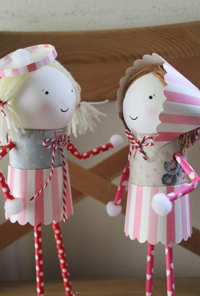 Bonequinhas artesanais super delicadas e charmosas