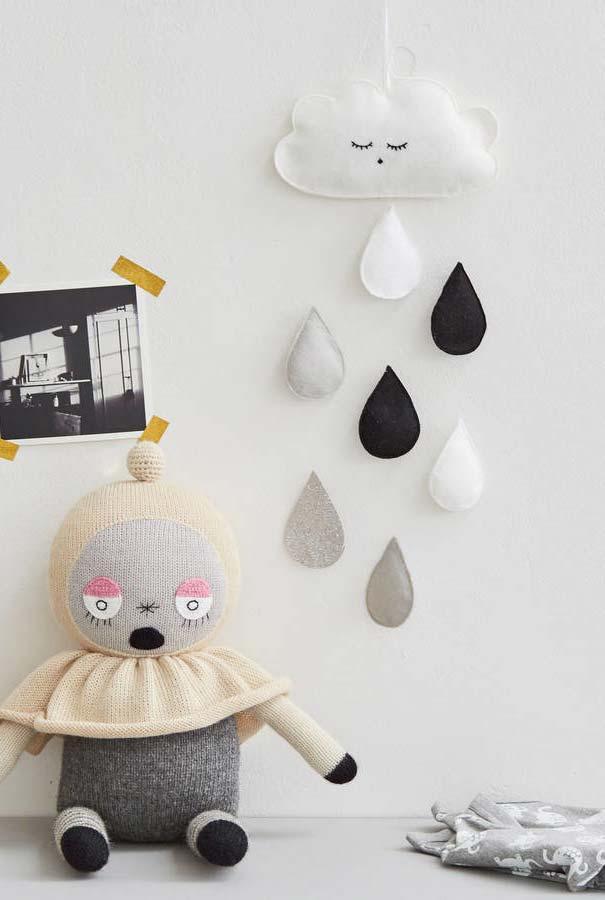 Artesanato em feltro: bonequinha nuvem