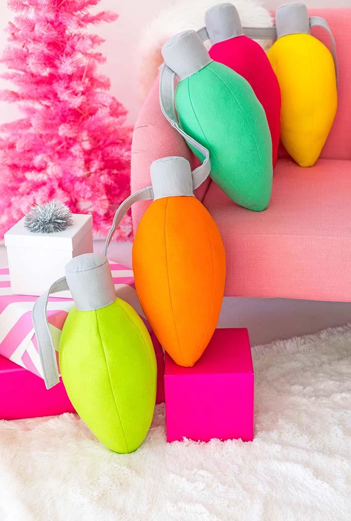 Artesanato em feltro: enfeites coloridos
