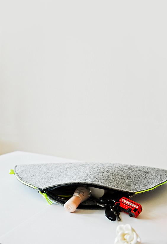Artesanato em feltro: necessaire
