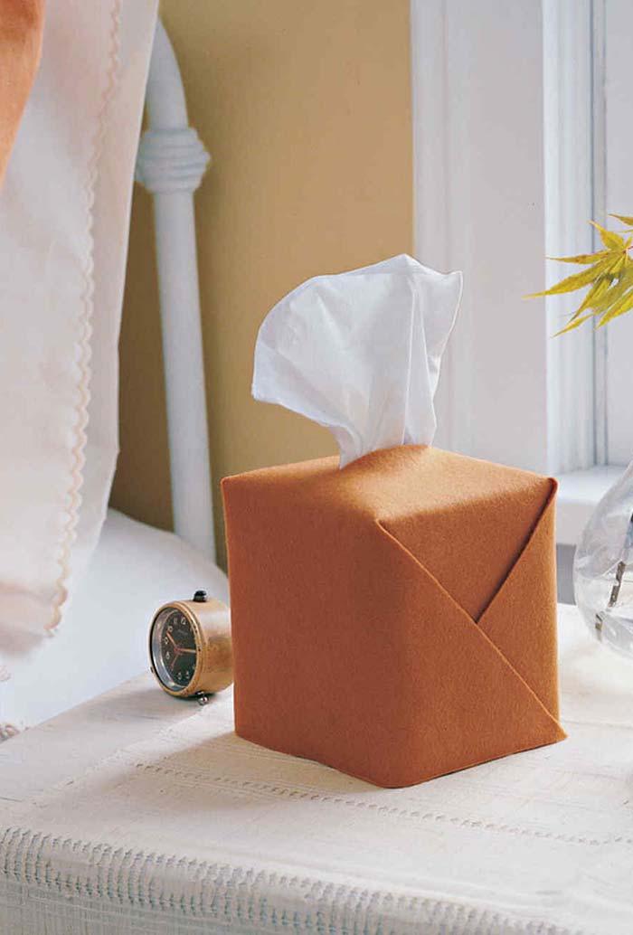 Artesanato em feltro: porta lenços