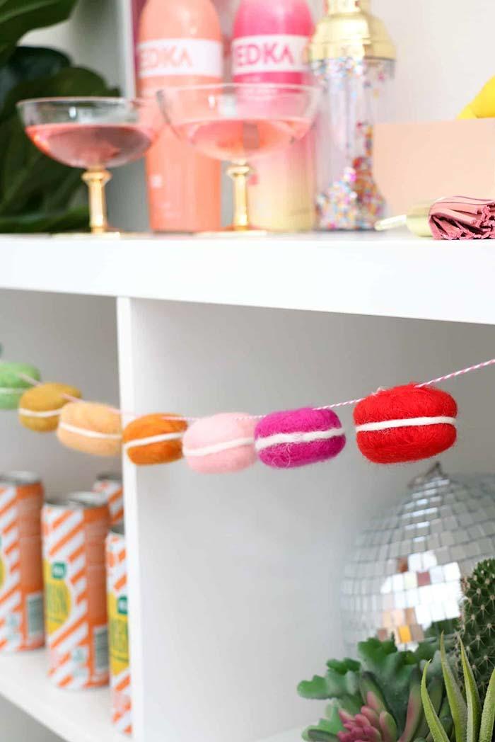 Artesanato em feltro: macarons