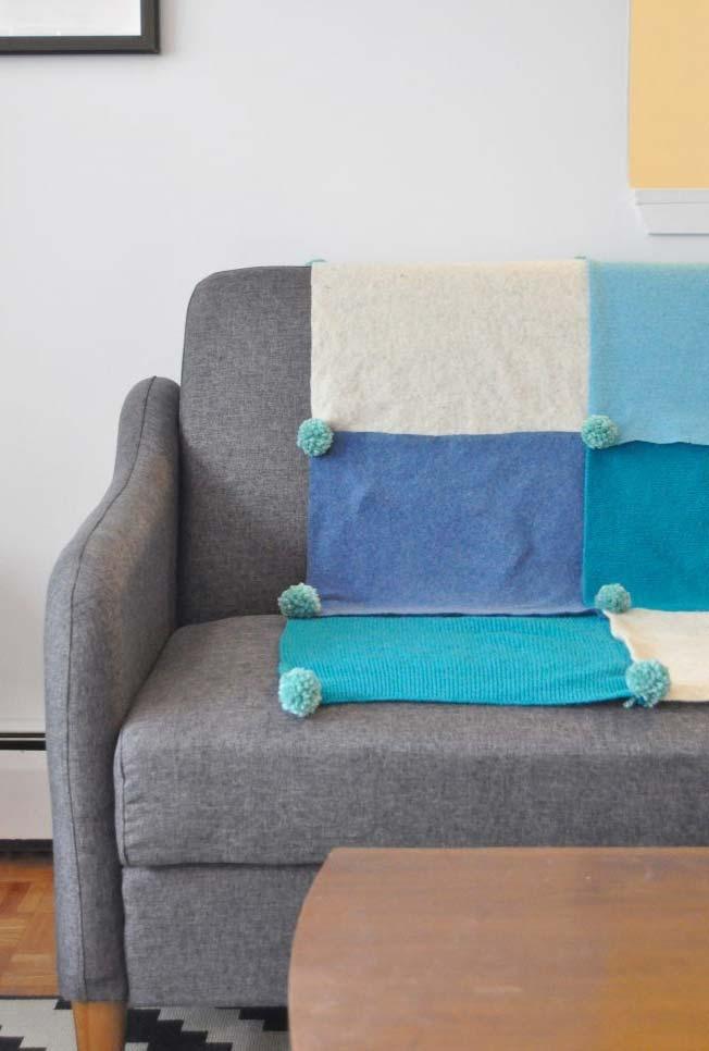 Manta de sofá em feltro