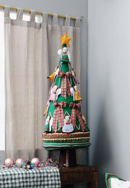 E a árvore de natal? Também pode ser feita de feltro