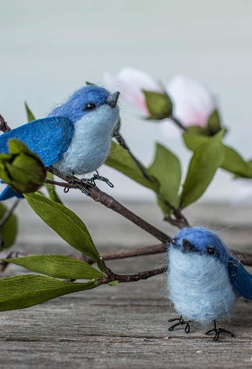 Artesanato em feltro: passarinhos de feltro para acrescentar na decoração