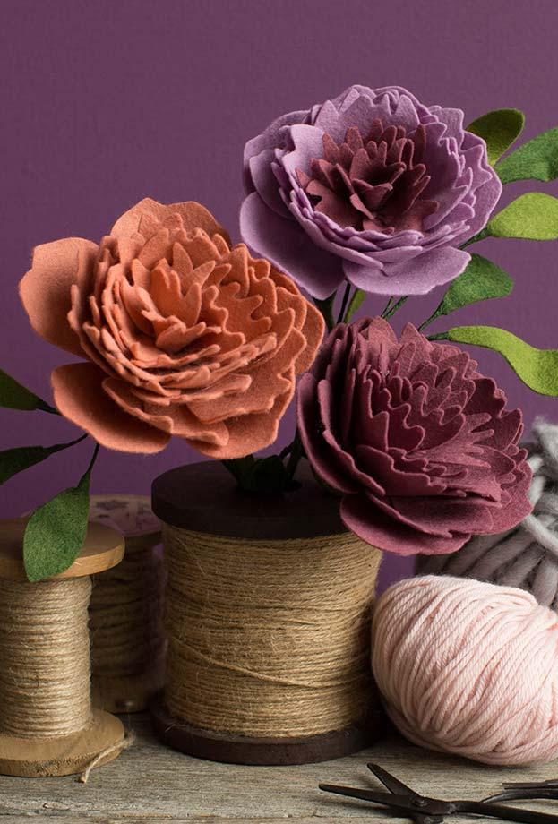 Artesanato em feltro: flores