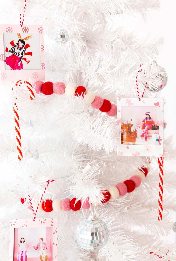 Bolas de feltro para decoração de Natal