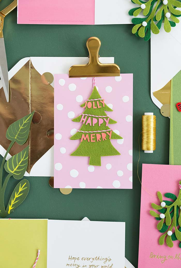 Artesanato em feltro: enfeite de natal para o mural de recados