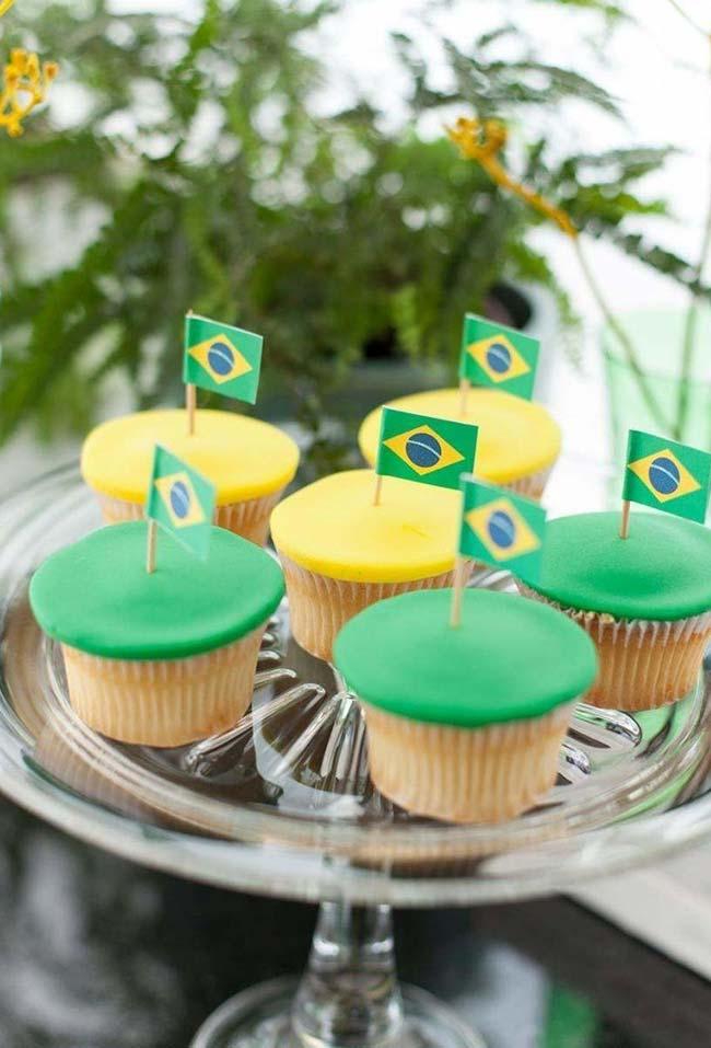 Decoração especial dos docinhos para a sua festa copa do mundo