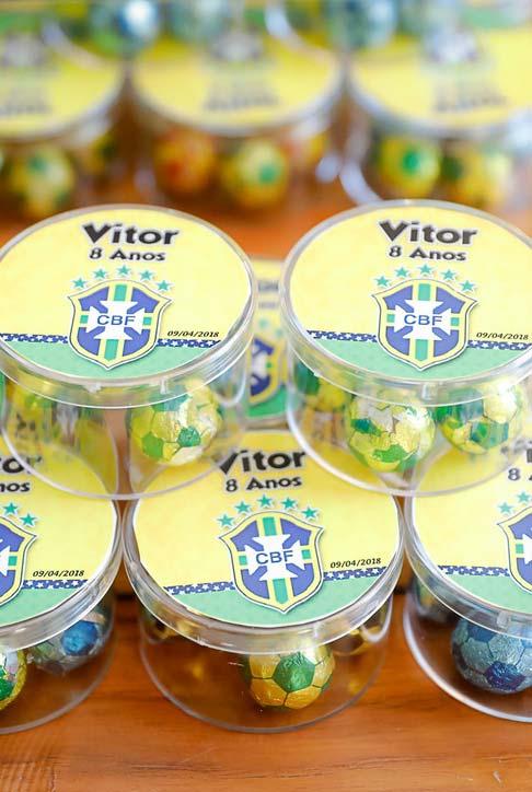 Lembrancinhas de aniversário festa copa do mundo