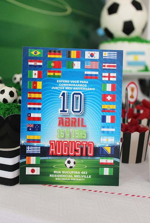 Convite de festa infantil copa do mundo 2018