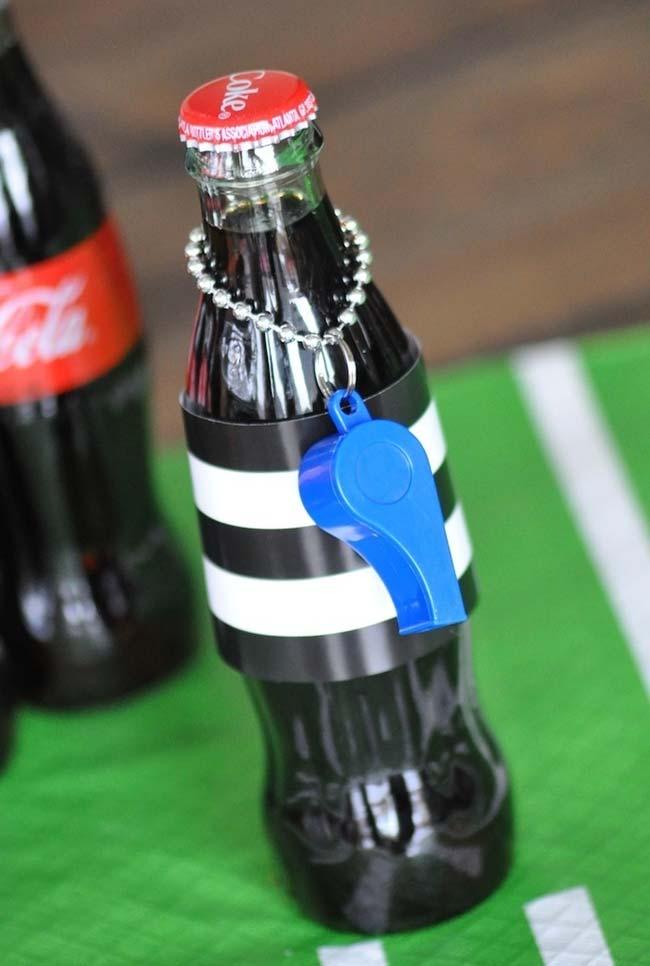 Decoração copa do mundo 2018 até nas bebidas