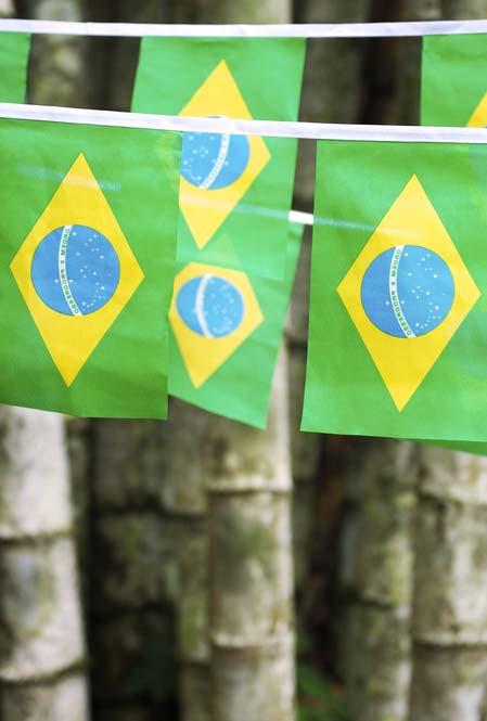 Bandeirinhas do Brasil para uma decoração suspensa