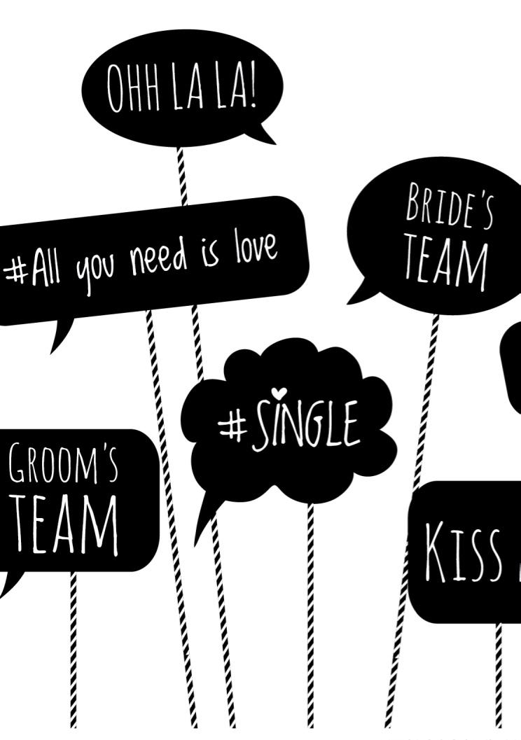 Plaquinhas para festa de casamento: celebração do amor com mensagens cheias de humor