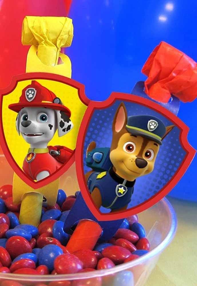 TAGs dos seus patrulheiros favoritos: Chase e Marshall prontos para te ajudarem a pegar docinhos
