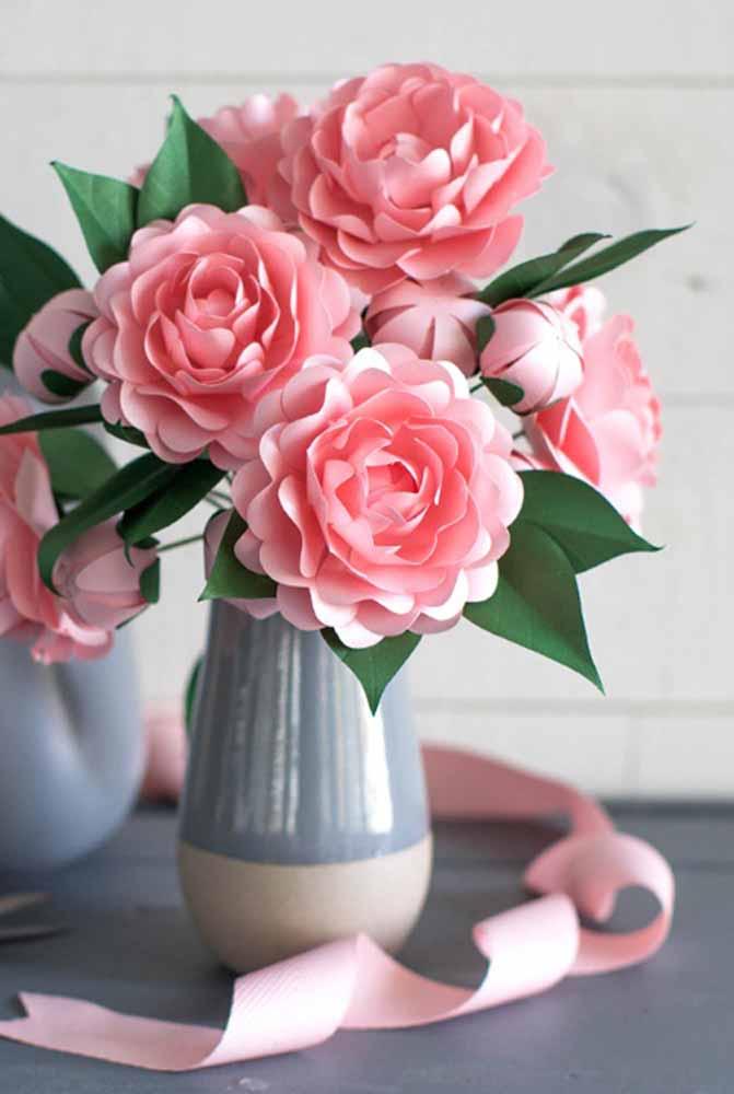 Flores De Papel Saiba Como Fazer E Veja 60 Fotos Inspiradoras