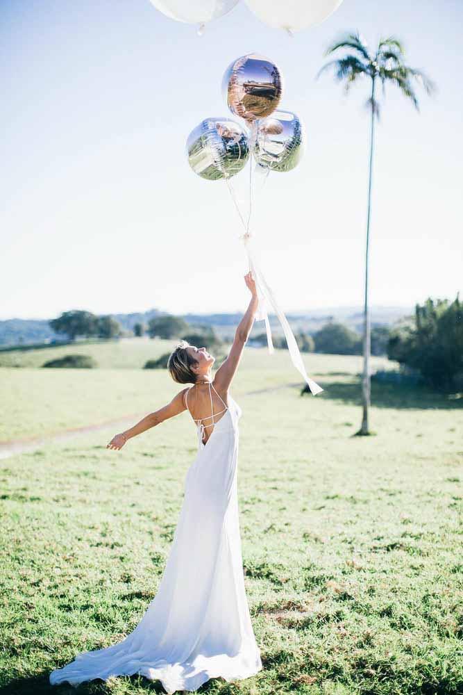 Deixe o pré-wedding fluir leve e suavemente como balões