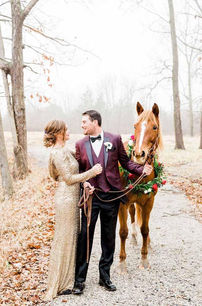 Um romântico passeio a cavalo