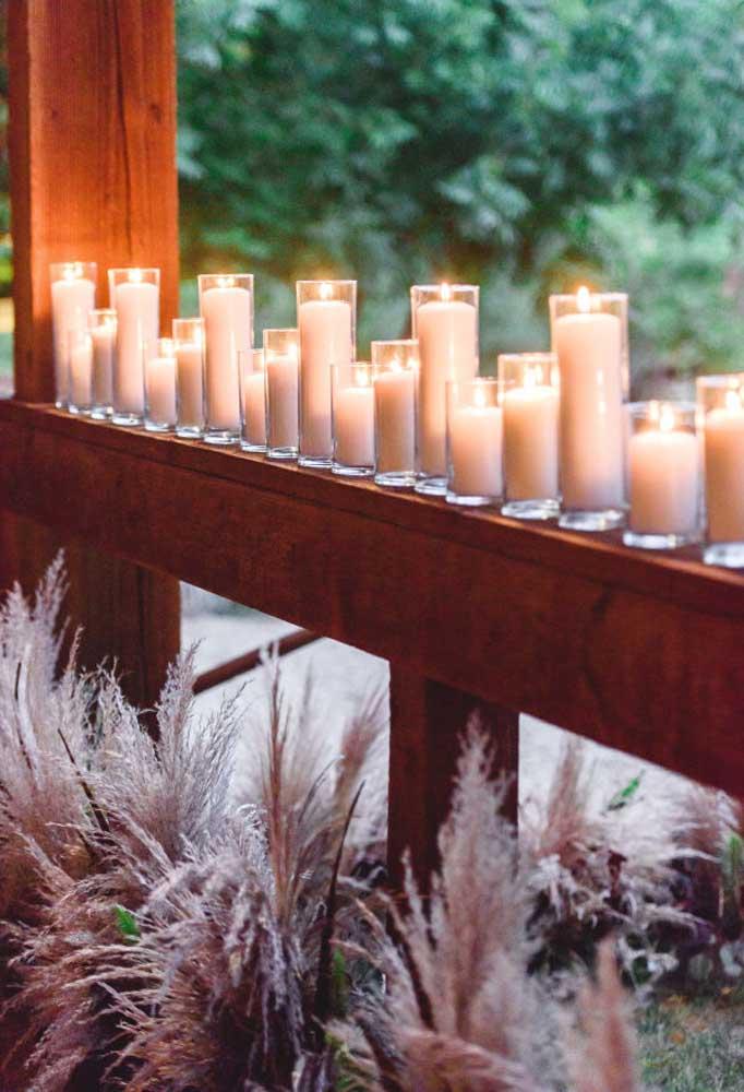 Impressionante como as velas deixam o ambiente mais sofisticado.