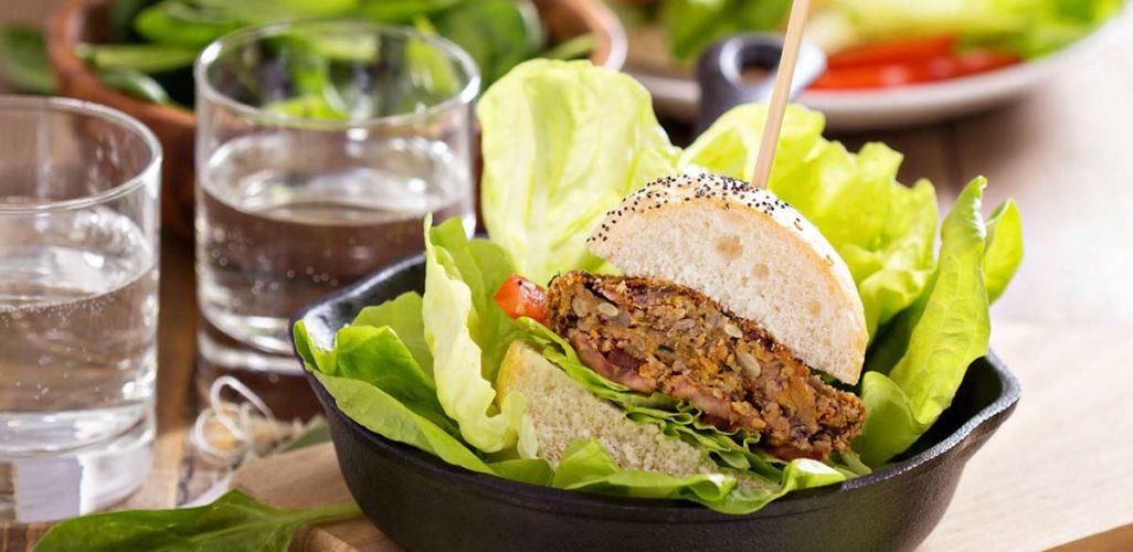 Hamburguer vegano. Foto: Depositphotos