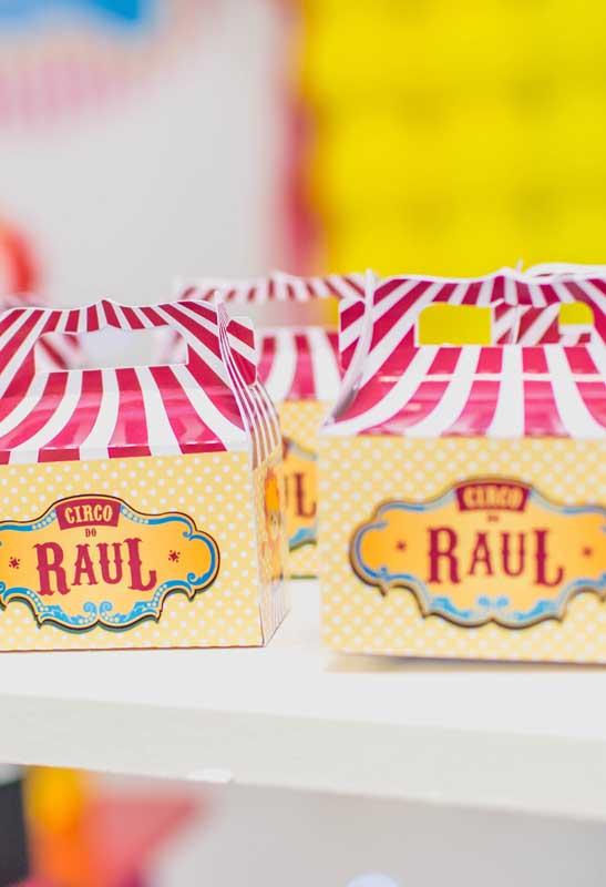 Essas caixinhas são perfeitas para lembrancinha circo.